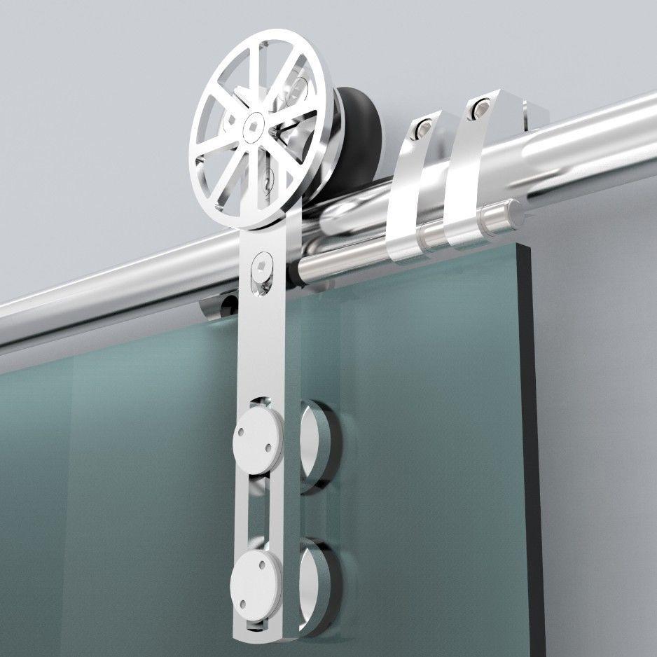 Puertas correderas de cristal en madrid la cristaler a - Rieles puerta corredera ...